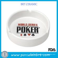 White Ceramic Porcelain Custom Ashtray
