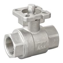 Clapet à bille 2PC en acier inoxydable ISO 5211