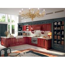Com 9 anos de experiência fábrica diretamente móveis de cozinha vermelha para o mercado do Canadá
