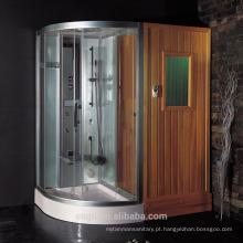 Sala de sauna infravermelho distante com chuveiro de vapor (ds205f3)