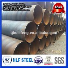 Tuyau en acier en spirale / tuyau en acier à scie / tube en acier au carbone