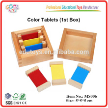 Material Montessori Colour Tablets