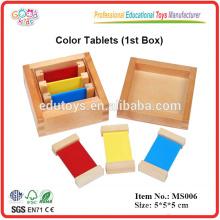 Montessori material Color Tablets
