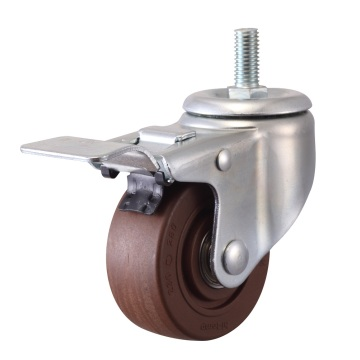 High Temperature Threaded Stem with Brake Caster (280 degree)