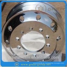 Roda de alumínio 22.5 forjado resistente para truck.bus