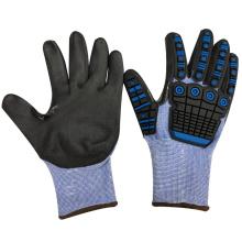 Gants NMSAFETY TPR anti-impact TPR sur les gants de sécurité en nylon nitrile