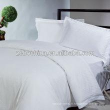 L'usine directe a fait différentes couleurs et styles disponibles en gros des draps de lit d'hôtel de luxe