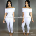 XYLTY-006 2017 top quality bodycon black boat neck club wear jumpsuit women