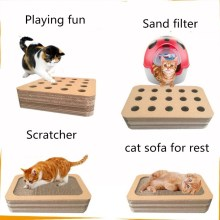 ODM for Custom Straight Panel Cat Scratching Board SmartCat Peek and Play Toy Box supply to Saint Vincent and the Grenadines Manufacturers