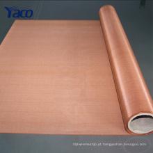 20mesh 40mesh 80mesh 100mesh 120mesh 200mesh cobre infundido tecido, malha de cobre 1 * 30m roll
