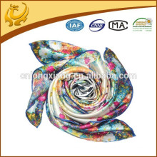 Printed Satin Square Bulk Silk Scarves