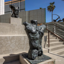 riproduzioni fundição em bronze fundição metal craft escultura em bronze torso