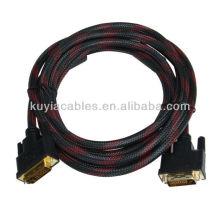Hi-Speed 1.8m DVI Cable DVI 24 + 1 DVI-D macho a macho M / M Cable de vídeo