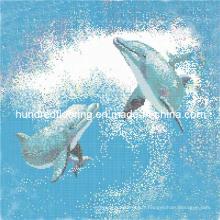 Mosaïque de verre Design de motif Mosaïque de piscine (HSP323)