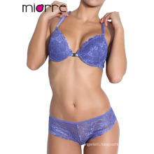 Miorre Sexy Half-Cup Padded Women Lace Bra and Panty Set