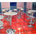 Round MDF and aluminum Bar Table for bar furniture bar stools