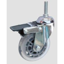 Industrial Caster Thread Transparent Caster with Whole Brake