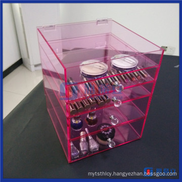 China Wholesale Customized Acrylic Clear Cube Makeup Organizer