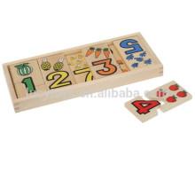 Kinder Hölzerne Frucht und Zahl Match up Puzzle Spielzeug