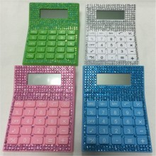 8 chiffres DC Power Bling Desk Crystal Diamonds Calculator