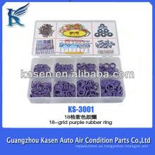 Anillo de sellado de caucho automotriz púrpura de 18 rejillas