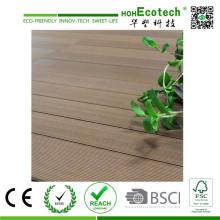 Plancher extérieur de Decking de jardin de WPC de Barefoot qui respecte l'environnement
