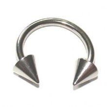 316L Steel Horseshoe Circular Barbell with Cones