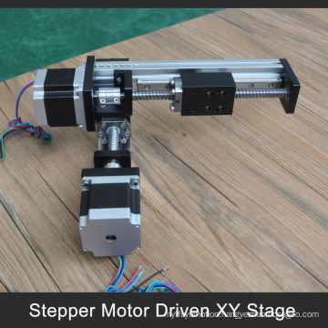 FUYU brand 100 to 1000mm stroke xy motorized table for industrial robot arm