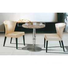 New Design Round Cafe Table and Chair (FOH-BCA35)