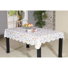Toalha de mesa impressa de PVC com apoio de flanela (TJ0055)