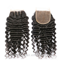 Natural Color Middle Part Lace Closure Brazilian Hair Closure
