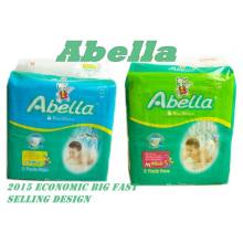 Красочные печати Дешевые пеленки Abella Baby для Нигерии Африка