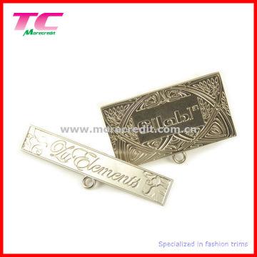 Branded Metal Nameplate Pins for Quality Handbag