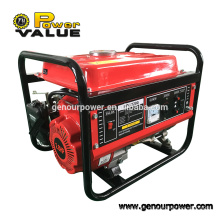 Power Value Taizhou 1kw generador de gasolina 1.1kva con ce para la venta caliente