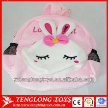 New design cute rabbit plush animal backpack for kids