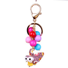 Beautiful Rhinestone butterfly Keychain Alloy Keyring Crystal key chain handBag Charm Real Gold Plated