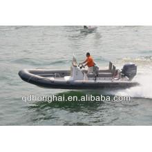 nouveau yacht canot pneumatique à coque en fibre de verre RIB650 avec CE
