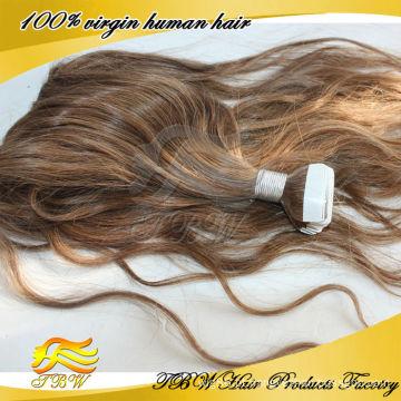 venda quente barato fita virgem cabelo extensão fita remy fita cabelo