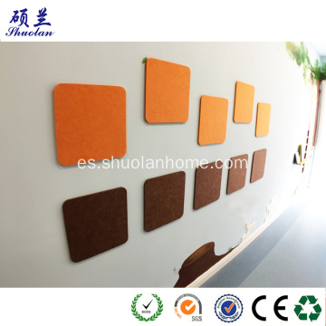 Pieza de fieltro para decoración de pared con forma multivariante