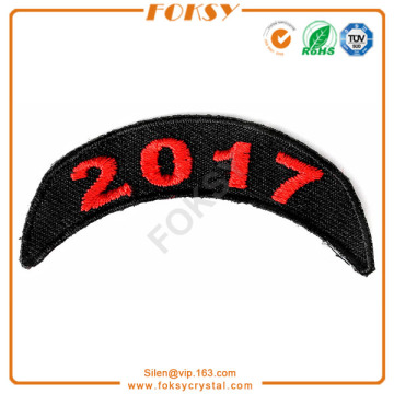 OEM for Embroidered Patches 2017 number embroidery patch custom export to Dominica Exporter