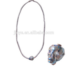 Hand knotted Bling Crystal Faceted Skull Necklace