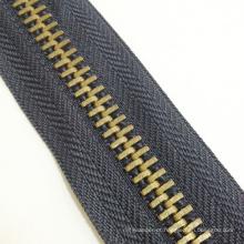 2016 latão zíper rolos para vestuário