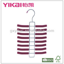 Set of 3pcs EVA foam coated metal tie hanger with 16racks