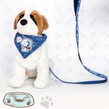 Custom logo collar with dog leash and bibs