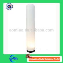 Inflável cilindro iluminação tubo inlatable coluna de luz para publicidade