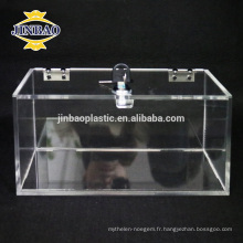 Jinbao Boîte de rangement acrylique transparent Boîte de rangement acrylique transparent vente chaude