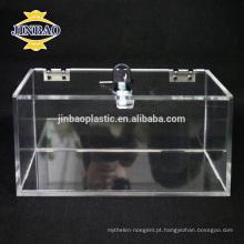 Caixa de armazenamento de acrílico transparente Jinbao Venda quente Caixa de organizador de acrílico transparente