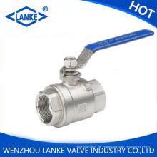 Válvula de esfera roscada 2PC para o aço inoxidável