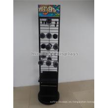 Multi-Layers Estantes metálicos negros Ganchos metálicos Tienda al por menor Colgantes Embalaje Duck Tape Display Rack
