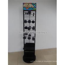 Multi-Layers Black Metal Shelving Metal Kooks Loja de varejo Pendurado Embalagem Duck Tape Display Rack